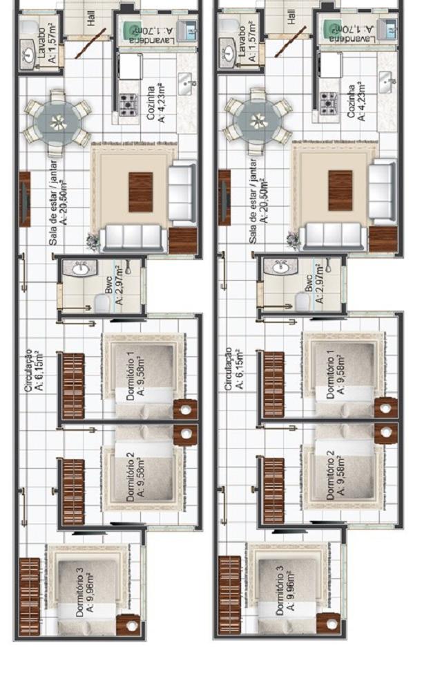 Plano De Casa De 77 M2 Planos De Casas Gratis Y Modernas