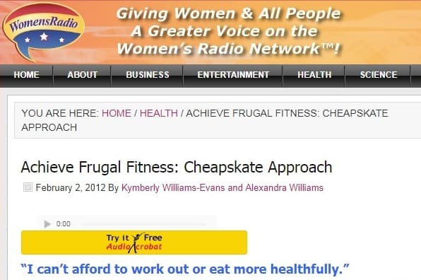 the frugal fitness radio show