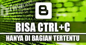 Mengizinkan Copy Teks Pada Bagian Tertentu Saja Meski Blog Sudah Dipasang Script Anti Copas
