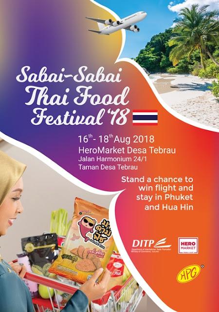 Johor Bahru, Sabai Sabai Thai Food Festival 2018, Thai Food Fest