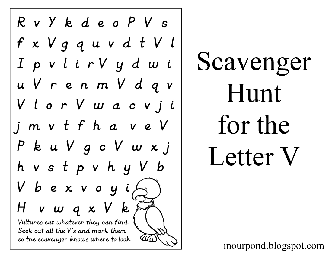 Letter Hunt Like A Scavenger