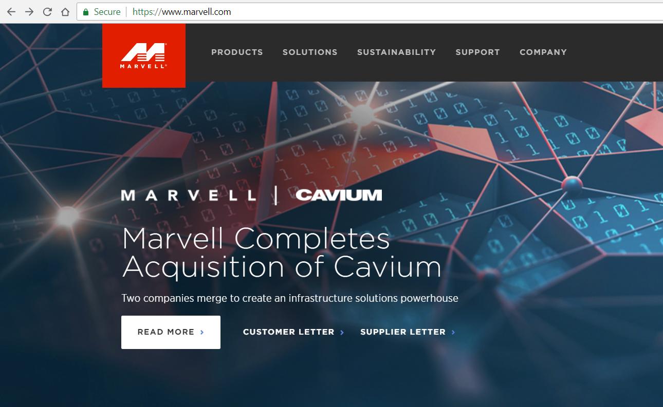 Converge! Network Digest: Cavium
