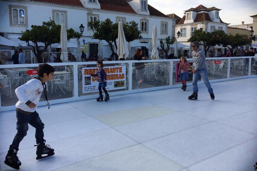 Pista de patinaje en la plaza del Marqués de Pombal