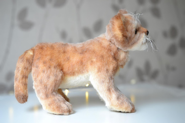 Faux Taxidermy Soft Sculpture Lion Cub