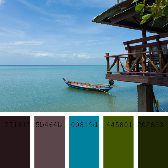 color schemes combination cian blue Caribbean