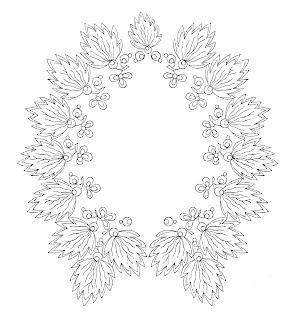 frame border floral design digital crafting image