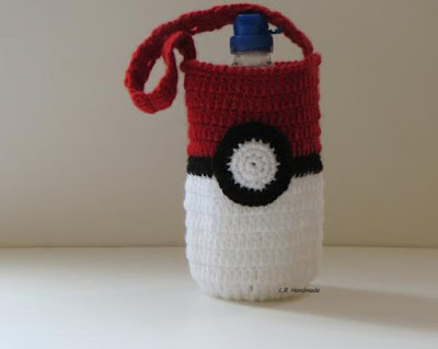 Pokeball Water Bottle Bag