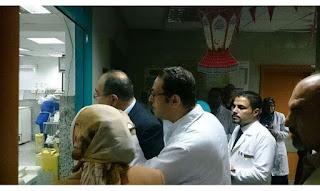 رئيس مجلس إدارة الهيئة العامة للتأمين الصحى يزورمستشفى أطفال مصر