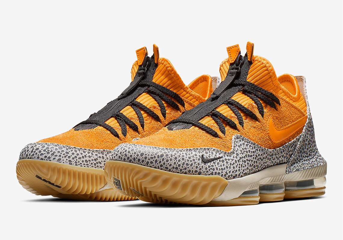 "sale retailer 424e6 75c7c Set to release as part of the Nike LeBron 16 s  LeBronWatch campaign, the  ""Safari""-colored version of the LeBron 16 Low has a lot more to do with the  year ..."