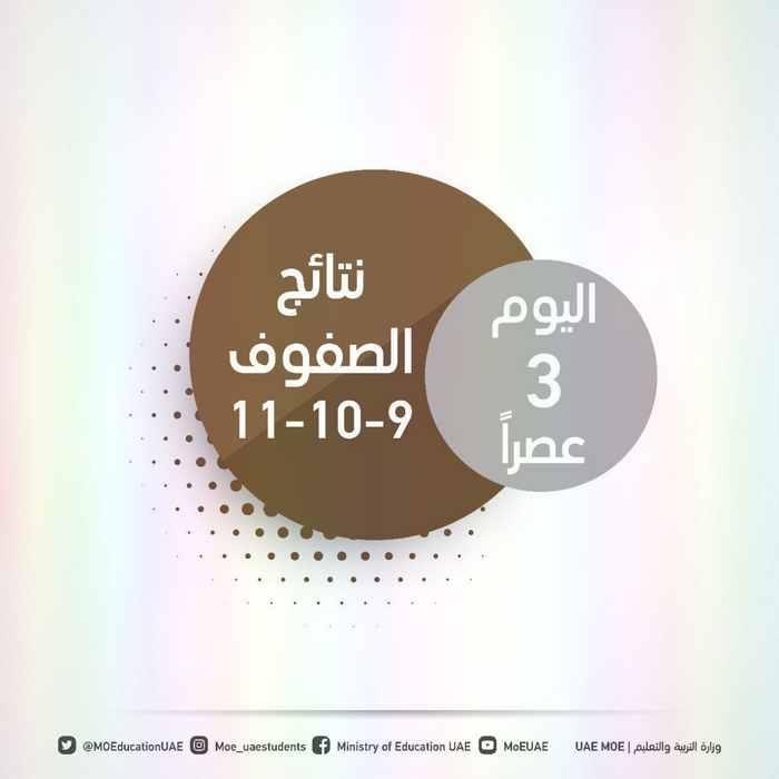 اعلان نتائج امتحانات الصفوف( 9-11) من خلال نظام المنهل و ايسيس