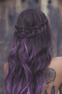 subtle purple braids