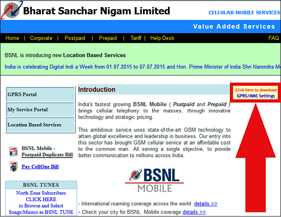 How to download BSNL 3G/2G Internet Settings and MMS Configuration for your Mobile Handset through Online Portal