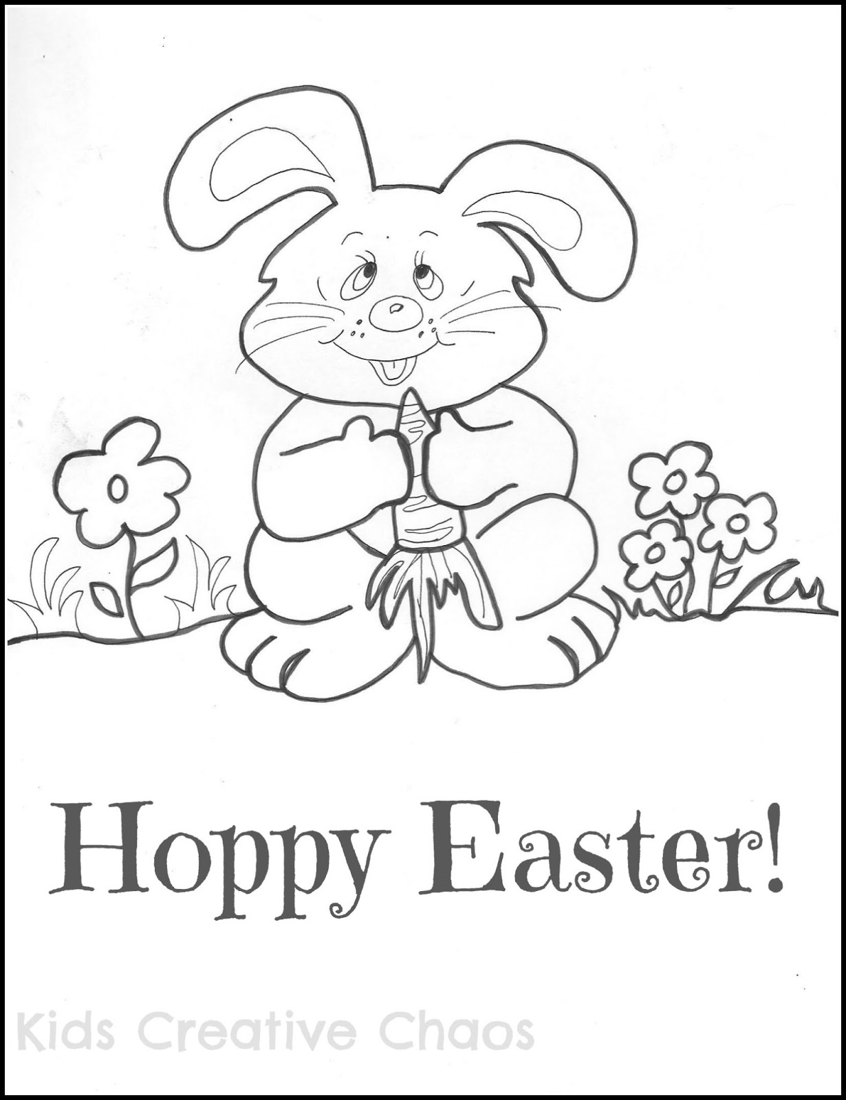 Easter Bunny Coloring Page Printable for Kids - Kids Creative Chaos