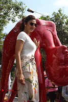 Bollywood Actress Shilpa Shetty Pos at Yoga Posed Statue Inauguration .COM 0005.jpg