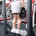 Treino de panturrilhas da atleta Olena Starodubets
