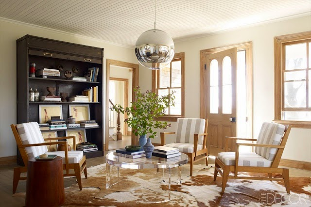 Kensington Bliss Loving The Lucite And Brass Coffee Table