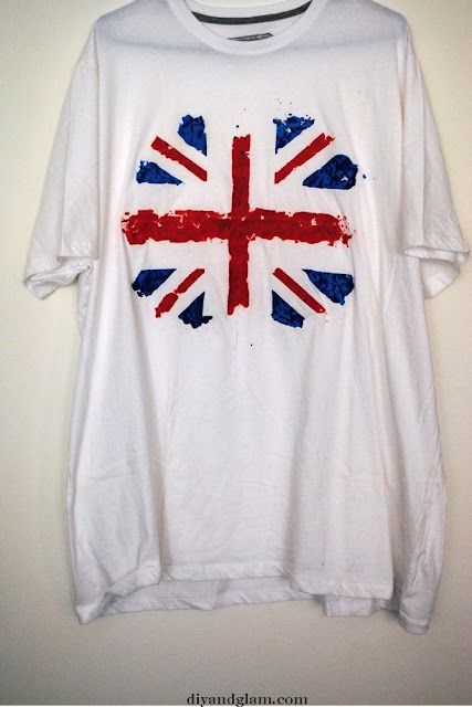 Diy tutorial camiseta Union Jack