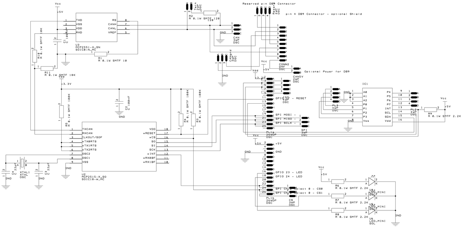 schematic design of pcb board with all components version 0 1 incorrect requires modification [ 1600 x 797 Pixel ]