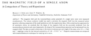 The Magnetic Field of a Single Axon: A Comparison of Theory and Experiment (Biophysical Journal, 48:93–109, 1985)..