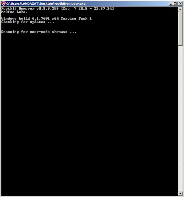 كيف تفحص حاسوبك وتتأكد من سلامته من البرمجيات الضارة والخبيثة مع rootkitremover