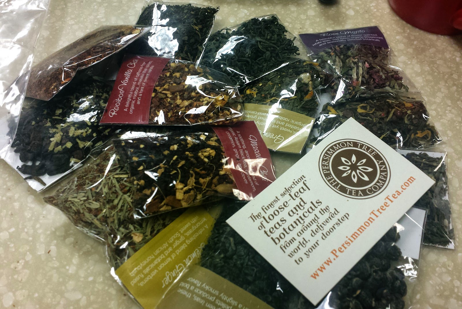 The Persimmon Tree Tea Company Sampler Pack Review and Giveaway #Teadrinker Ends 7/18 via ProductReviewMom.com