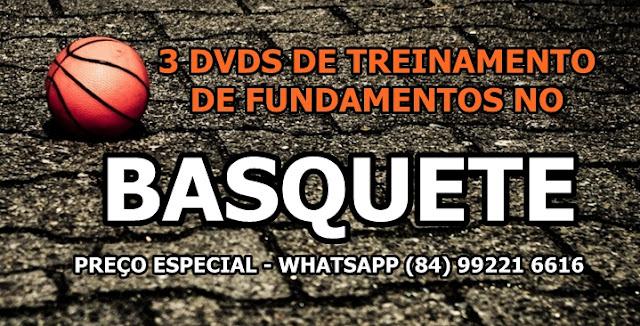 Kit com 3 dvds de Basquete