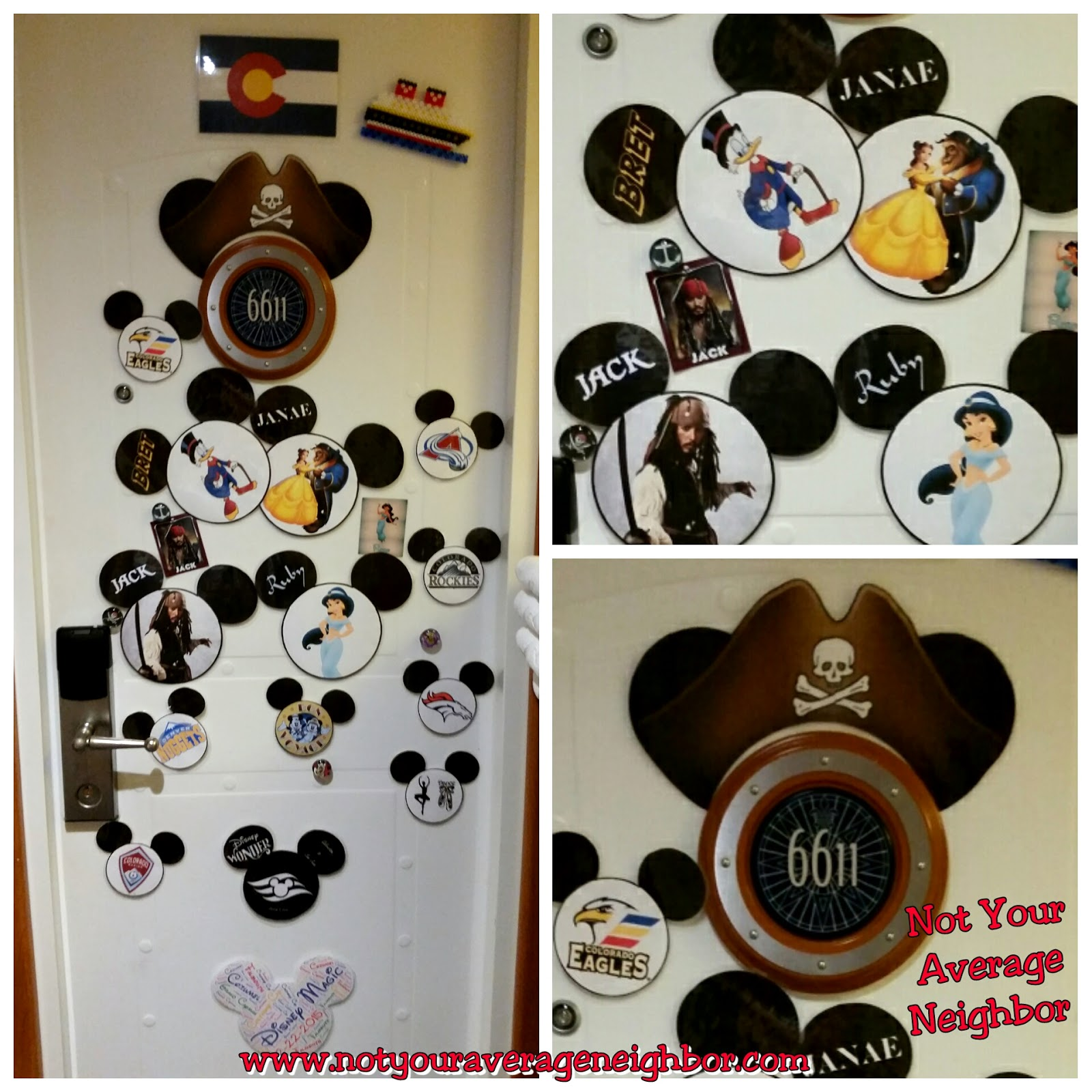 Not Your Average Neighbor Disney Cruise Stateroom Door