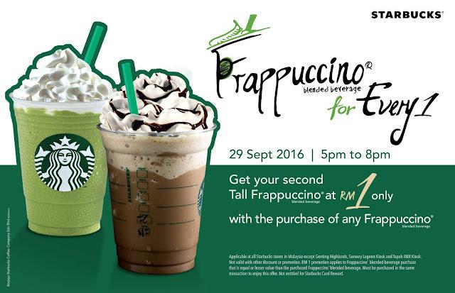 Starbucks Malaysia Frappuccino Promo