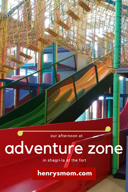Pin This! Adventure Zone in Shangri-La at the Fort, A review by Henry's Mom