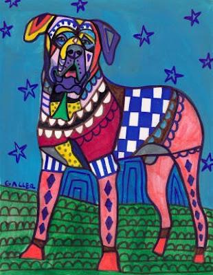 Arte y pintura de un perro