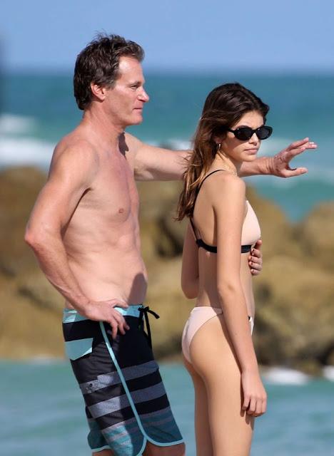 Kaia Gerber in Bikini on Miami Beach