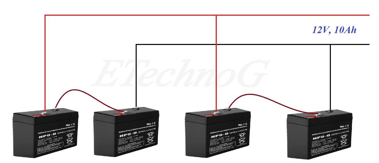 Battery Wiring In Series And Parallel Full Explanation Etechnog Batteries