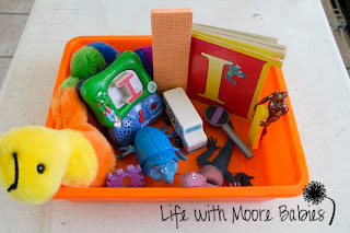 How to Make a Letter I Sensory Bin