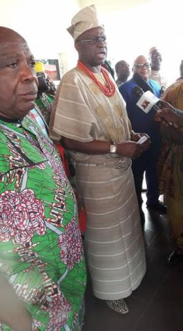 Photos: Fayose attends state traditional festival in very unique attire