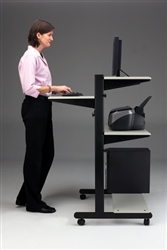Sit To Stand Mayline SOHO Desk