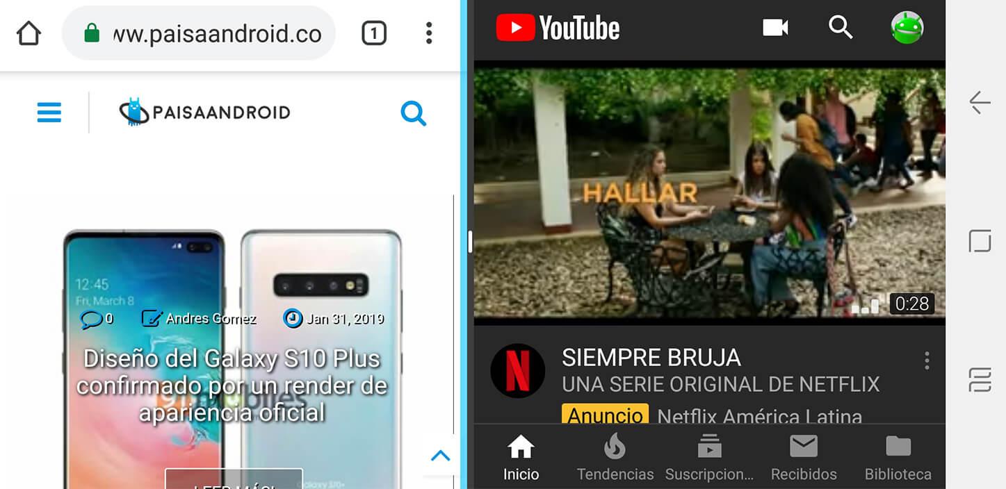 Pantalla dividida en Android