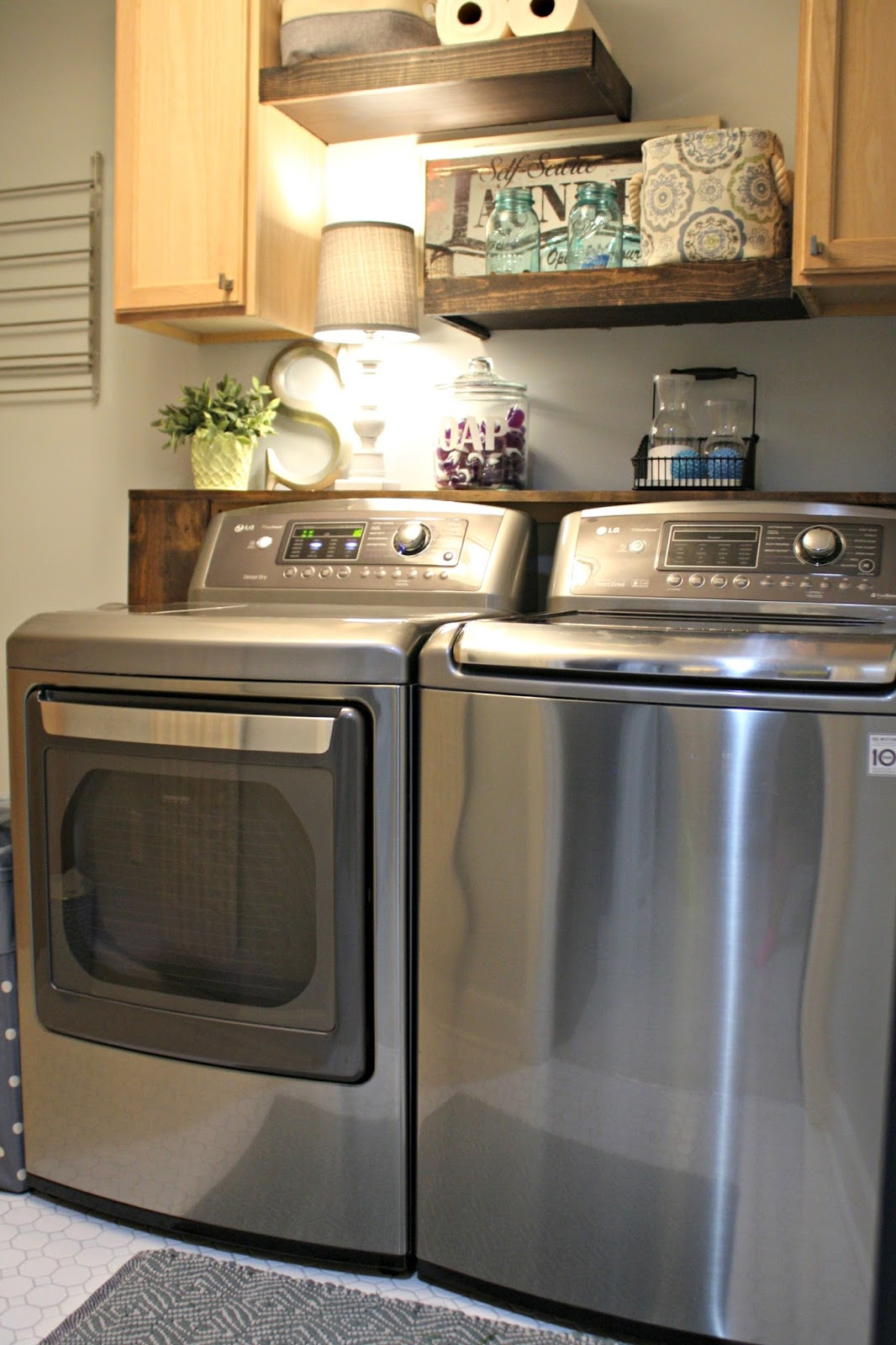 Lg washer and dryer review four years later from thrifty decor chick - Laundry room ideas small spaces collection ...