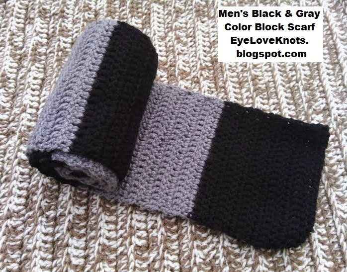 EyeLoveKnots: Mens Black and Gray Color Block Scarf ...