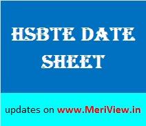 Haryana Polytechnic Date sheet