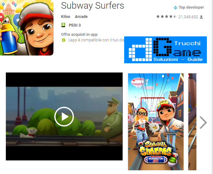 Trucchi Subway Surfers Mod Apk Android v.1.63.1