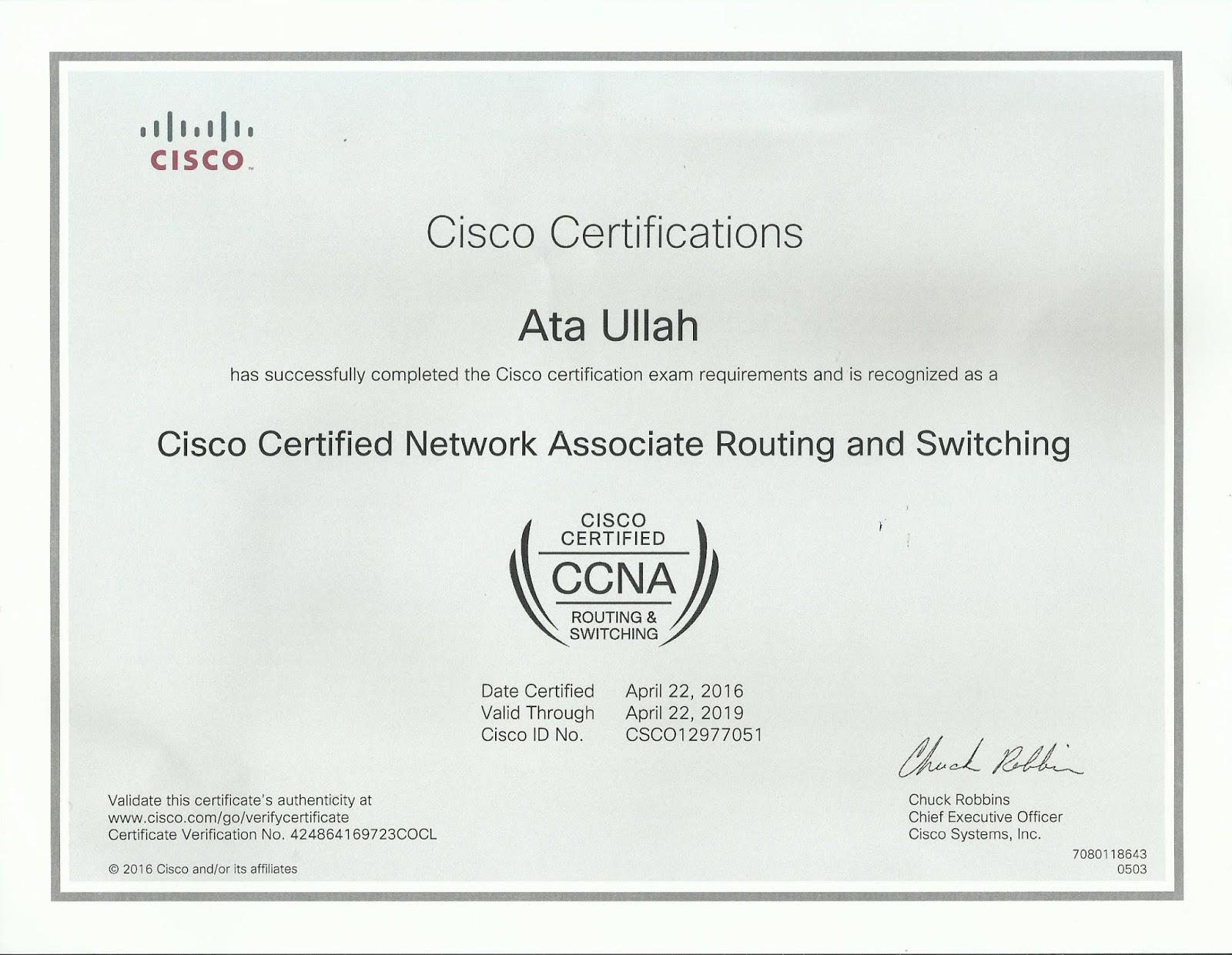 CCNA in Faisalabad: CCNA Recent Certified Cisco Academy Faisalabad ...