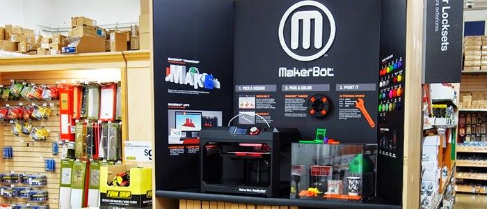 搶攻DIY市場,3D列印機MakerBot進駐居家零售店開賣