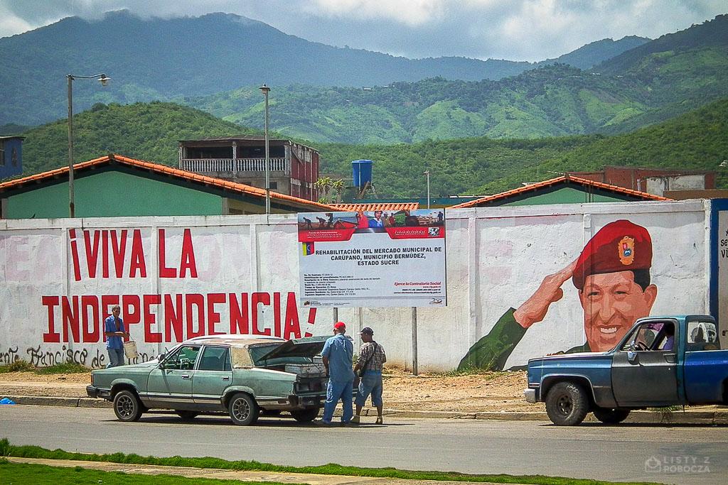 Mural z wizerunkiem Hugo Chaveza w Wenezueli