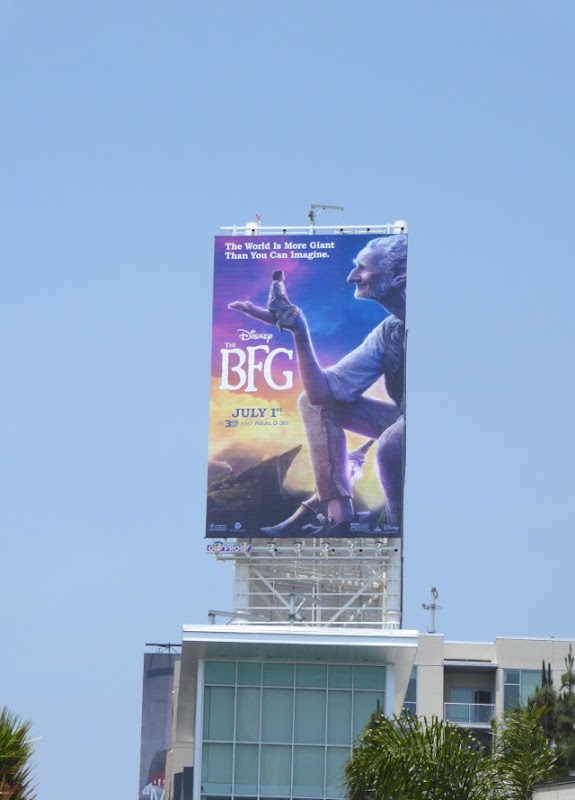The BFG film billboard