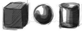Bentuk Dasar sebagai media latihan teknik dasar menggambar.