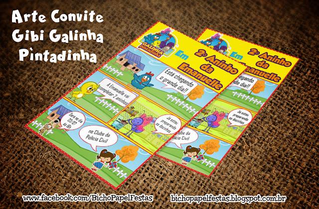 Convite Gibi Galinha Pintadinha