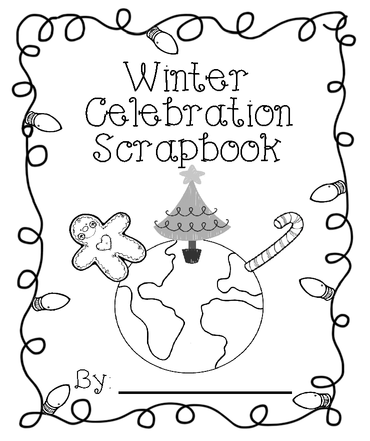 Totally Terrific in Texas: Winter Celebration Scrapbook | christmas coloring pages  booklet