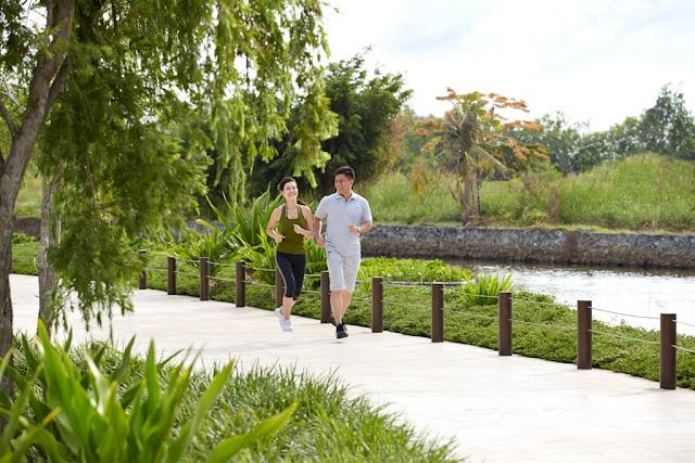 Công viên và đường chạy bộ khu Biệt thự - Nhà phố Park River Side quận 9 HCM