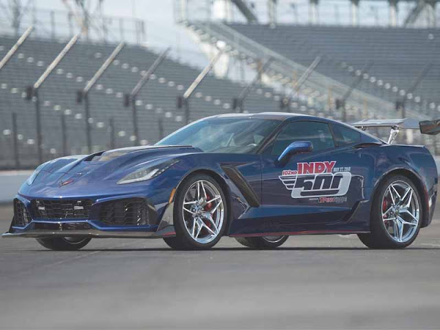 This Chevrolet Corvette ZR1 is the fastest and most powerful pace car in the history of the Indy 500