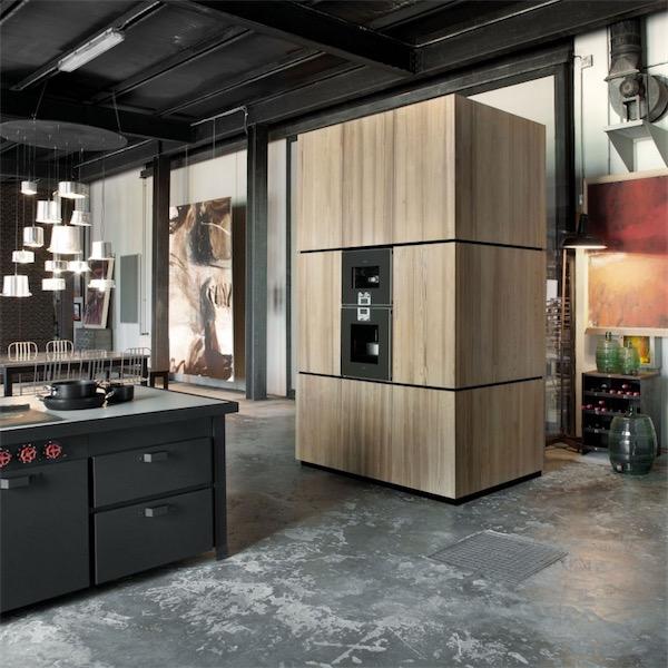 mueble de cocina con electrodomésticos integrados chicanddeco